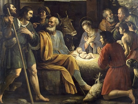 Giuseppe Vermiglio, Nativity and the adoration of the shepherds (1622)